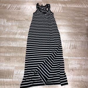 J.Crew Gray and Black Stripped maxi dress XS
